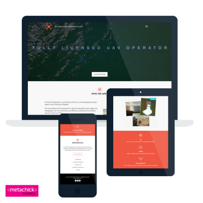 website design and development for ID Aerial Photography