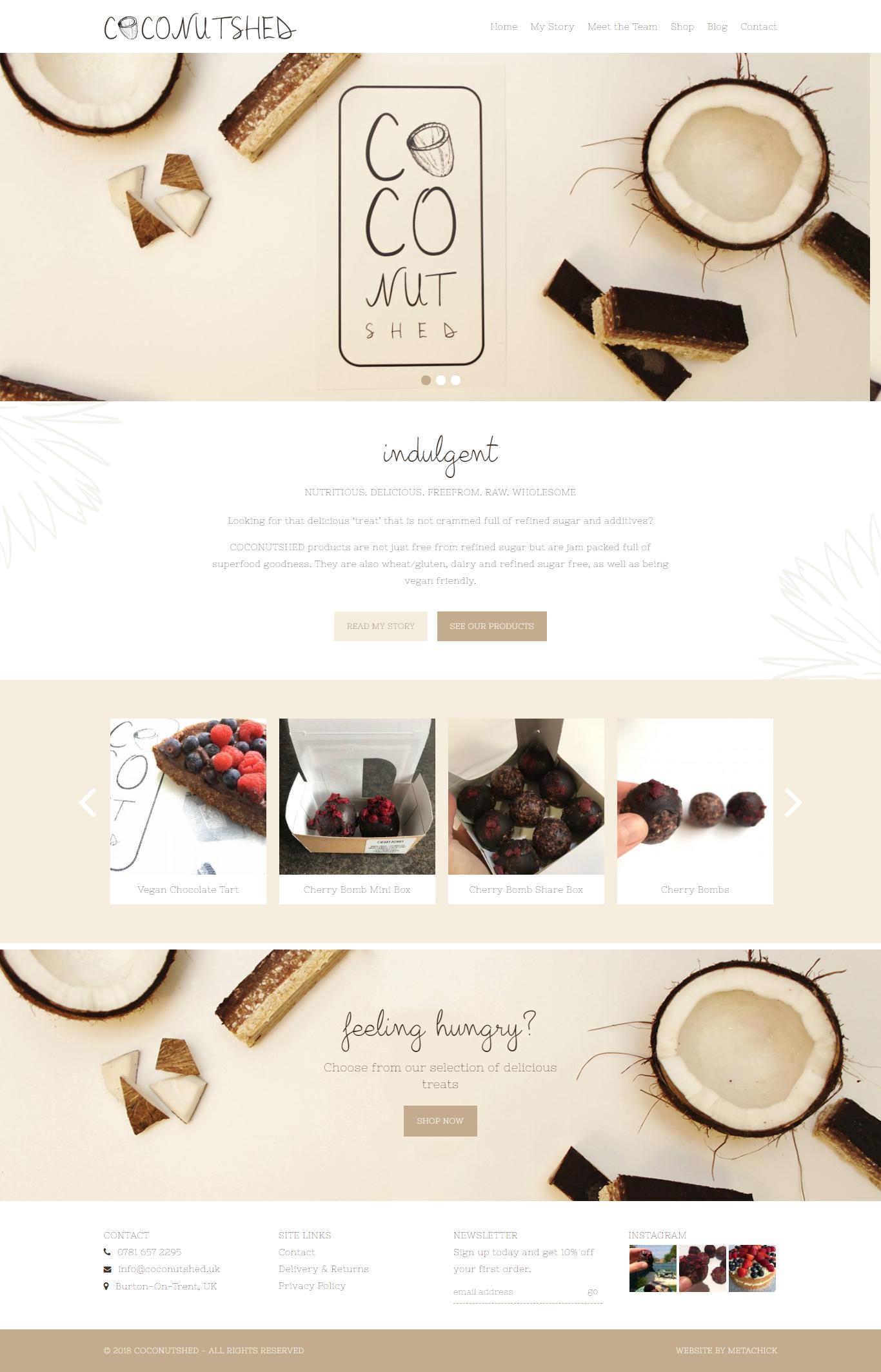 Coconutshed website Metachick