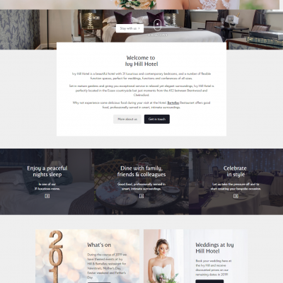 Ivy Hill Hotel Website designed by Metachick Marketing