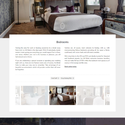 Ivy Hill Website bedrooms page