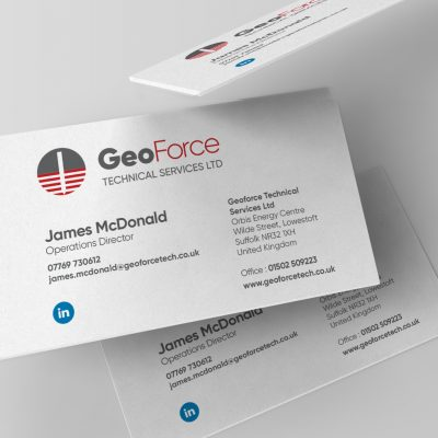 Geoforce Business Cards designed by Metachick Marketing