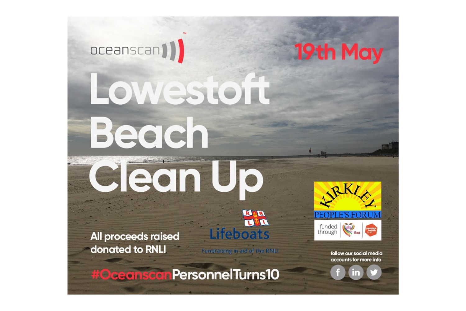 Oceanscan Beach Clean 10 year anniversary campaign - Metachick Marketing