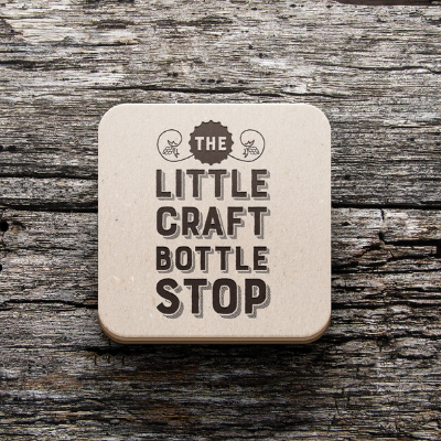 The Little Craft Bottle Stop logo and branding - Metachick Marketing